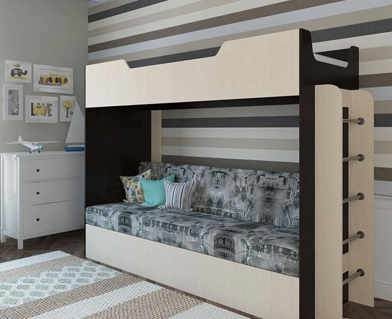 можно однотонный кровать двухъярусная с диван-кроватью картинки себе